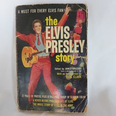 1960s Vintage Elvis Presley Book, ed by James Gregory, Intro by Dick Clark, The Elvis Presley Story, plus extra newspaper articles. $8.99, via Etsy.