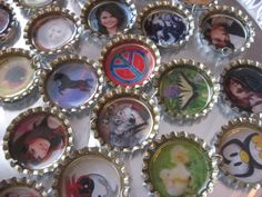 How to make bottlecap necklaces, keyrings, etc. with your own pictures and designs