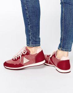 a692f779a018 Image 1 of Le Coq Sportif Milos Vintage Ruby Plimsoll Trainers Formal Shoes