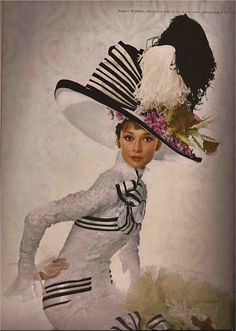 COSTUMED AND PHOTOGRAPHED BY CECIL BEATON     Harper's Bazaar April 1964  Photography: Cecil Beaton    AUDREY HEPBURN