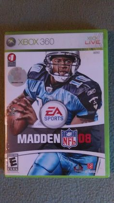 Lot of 3 Madden NFL Games Lot of 3 Three  2008, 2009, 2010 Microsoft Xbox 360