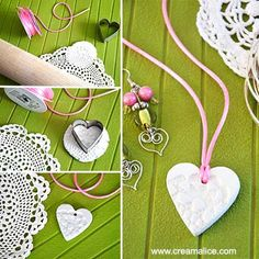 Yenna B. Diy And Crafts, Crafts For Kids, Preschool Art Activities, Clay Art Projects, Mothers Day Crafts, Clay Creations, Flower Crafts, Jewelry Crafts, Diy Collier
