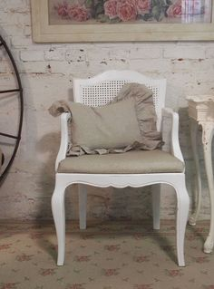 Painted Cottage Chic Shabby White Chairs CHR21 by paintedcottages, $120.00