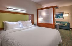 King Sleeping Area at SpringHill Suites by Marriott, Coeur d'Alene! Come stay with us! Come see our hotel!