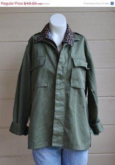 ON SALE Vintage Military US Army Shirt Army by founditinatlanta, $38.70
