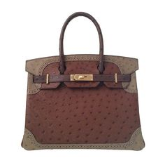 cf62ab4922dd Hermes Birkin Bag Ghillies (30cm) Ostrich in colors  Etrusque