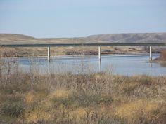 Bridge over South Saskatchewan River north of Bow Island, Alberta