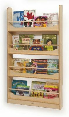 Whitney Brothers Wall Mount Book Shelf by Whitney Brothers. $164.01. WB2113 Features: -Book shelf.-Material: Birch Laminate.-Economical book display unit that's accessible by children and adults.-Suggested for ages: 36 mos - 72 mos.-GreenGuard certified.-Fully assembled.-Made in USA.-Maximum capacity: 100 lbs. Color/Finish: -Color/finish: Natural UV. Dimensions: -Dimensions: 56'' H x 5.5'' W x 31.5'' D.