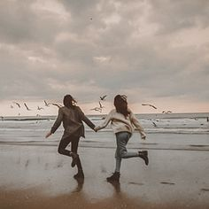 Running towards our real selves beach / luxury / rich - lifeluxury Couple Aesthetic, Aesthetic Pictures, Aesthetic Beauty, Below Her Mouth, Ville Rose, Image Nature, Poses References, Foto Art, Hopeless Romantic