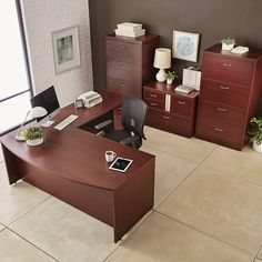 Cherry Executive Suite | Office Storage | #officedesk #officesuite #executivedesk