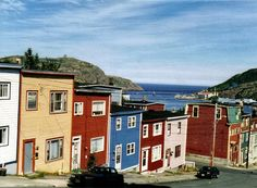 Jelly Bean Row, the Narrows and Cabot Tower. I long to be there. Newfoundland Canada, Newfoundland And Labrador, Cabot Tower, Mosaic Windows, Pictures To Paint, Painting Pictures, Landscape Paintings, Canvas Paintings, Jelly Beans