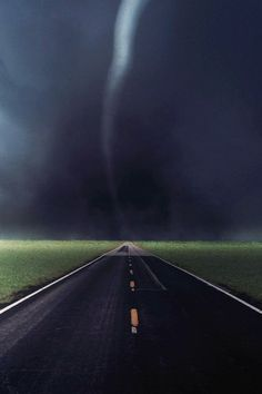 Tornado Storm Touchdown Country Road Highway iPhone 5 Wallpaper