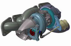 BRABUS B63 bi-turbo manifold and turbo assembly