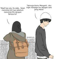 """Dakwah Sunnah di Instagram """"RAHASIA DI BALIK LAMANYA RUKU' DAN SUJUD . Mungkin orang Indonesia yang pernah pergi ke dua tanah suci heran dengan lamanya ruku' dan sujud…"""" Muslim Couple Quotes, Cute Muslim Couples, Muslim Quotes, Cute Drawings Of Love, Married Quotes, Islamic Cartoon, Cute Couple Cartoon, Anime Muslim, Hijab Cartoon"""
