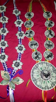 ideas about Money Lei on Money Lei, Money Origami, Hawaiian Crafts, Hawaiian Leis, Creative Money Gifts, Money Flowers, Flower Lei, Graduation Leis, Diy And Crafts