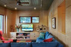 Contemporary Guesthouse - contemporary - family room - burlington - Smith & Vansant Architects PC