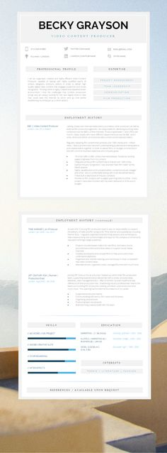 Modern Resume Template Professional Teacher Resume CV   Resume - how to get resume template on word