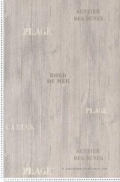 Papier peint Aquamura de Lutèce - Planche fond gris  #sea #beach #wallpaper http://www.papierspeintsdirect.com/papier-peint.html