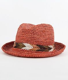 Roxy Straw Fedora Hat - Women's Accessories in Frosted Almond Easy Crochet Hat, Crochet Cap, Chloe Drew Bag, Sombrero A Crochet, Pork Pie Hat, Fedora Hat Women, Straw Fedora, Millinery Hats, Sun Hats