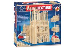 Matchitecture the Notre-Dame-de-Paris Cathedral Building Kit, Beige Matchstick Craft, Wood Sticks, Best Kids Toys, Toys Online, Craft Kits, Wood Colors, Cool Kids, Kids Fun, Arts And Crafts