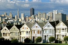Painted Ladies on Russian Hill in San Francisco