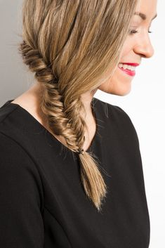 You've never seen a fishtail braid like this before! This inside out look works perfectly on medium-length hair.