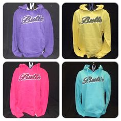 Adorable, colorful hoodies that are a must-have for every girl at Butte!