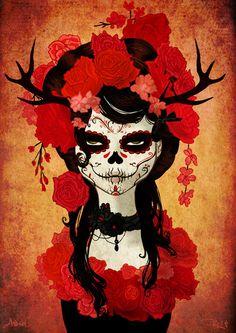 Dia de los Muertos Art by Ashel