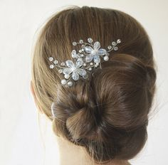 Flower Hair Pins, Wedding Hairpin, Bridal Flower Headpiece, Pearl Hairpiece…