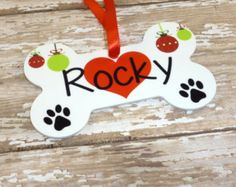 Personalized Dog bone Ornament for Snoopy