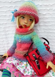 BACK TO SCHOOL FASHION OUTFIT FOR MSD MIKI  KAYE WIGGS DOLLS  BY BARBARA