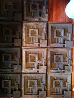 My cast concrete tiles, design very similar to FLW Ennis house.