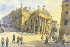 Theatre Royal Newcastle by Roy Francis Kirton  Signed limited edition mounted print