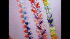 Hand Embroidery Designs | Basic embroidery stitches # Part-7 | Stitch an...