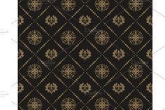 Seamless Wallpaper Dark Damask by kio on @creativemarket