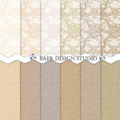 A beautiful and subtle shabby chic burlap and lace digital paper collection. champagne and blush digital backgrounds for creating wedding invites, scrapbook layouts, cards,  journal papers and more. 12x12 inch and 8.5 x 11 inch, 300 dpi jpgs, Full coverage lace papers ready to use for creating table numbers, game boards, menus, invites. Follow the visit button to read all the details. The beauty of digital paper is that once purchased, they can be used over and over again for years to come.