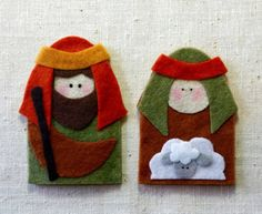 No-Sew Nativity Finger Puppets by Twipsie on Etsy