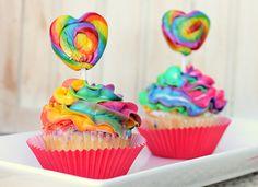 cupcakes hermosos de arcoiris - Buscar con Google