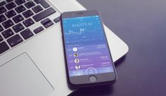 UI/UX Concept of Mobile-Only Challenger Bank from UX Design Agency