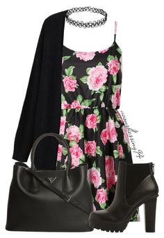 """Flower Power"" by avonsblessing94 ❤ liked on Polyvore featuring Prada and Steve Madden"