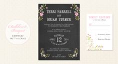 Chalkboard Picture Collection, Wedding Stationary, Reception, Stationery, Marriage, Celebrities, Floral, Pretty, Chalkboard