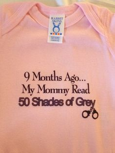 50 Shades of onesies: Adult themes grace baby clothes. Don't think I'd actually buy it though lol. Smileys, Doug Funnie, Just In Case, Just For You, Thursday Humor, 50 Shades Of Grey, Fifty Shades, Humor Grafico, All Family