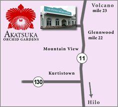 Akatsuka Orchid Gardens 11-3051 Volcano Road Volcano, Hawaii 96785 http://www.akatsukaorchid.com
