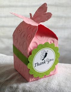 Butterfly party favor boxes custom colors available by TCampeotto