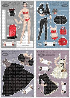 Paper Doll Alice One of work in Toy Design class. There are one character, Alice with 4 different clothes.