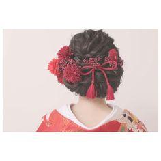 いいね!90件、コメント1件 ― erina.hm_studio8さん(@erina.fujimaki_studio8)のInstagramアカウント: 「. . ・+ 組紐が好きです。 。 +*・ . hair&make by 藤巻絵里菜 . photo by 山口大志. @decollte.hairmake_wasou…」