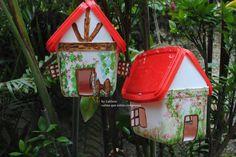 casa de passarinho em pote de sorvete