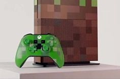 Behold the Minecraft grass block-themed Xbox One S