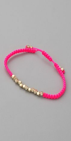 Shashi neon nugget bracelet $22 (in neon pink....and also maybe in neon yellow, green and orange...in that order) DIY this...