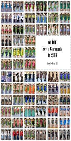 Fashion, Lifestyle, and DIY: 2013 Sewn Garments + Printable 2013 Look Book of ALL Mimi G Looks!